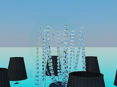 modello 3D Lampadario e applique nel set - anteprima