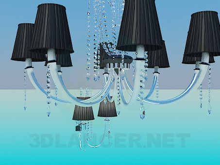 3d model Chandelier and sconces in the set - preview