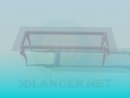3d modeling Glass coffee table model free download