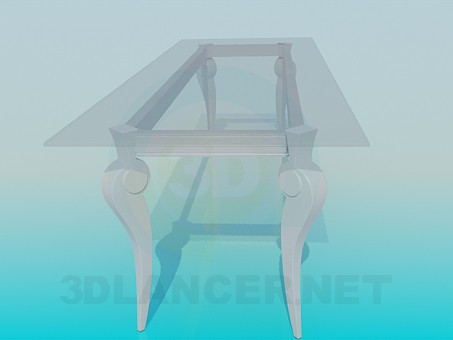 3d model Glass coffee table - preview