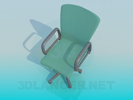 modelo 3D Silla de escritorio - escuchar