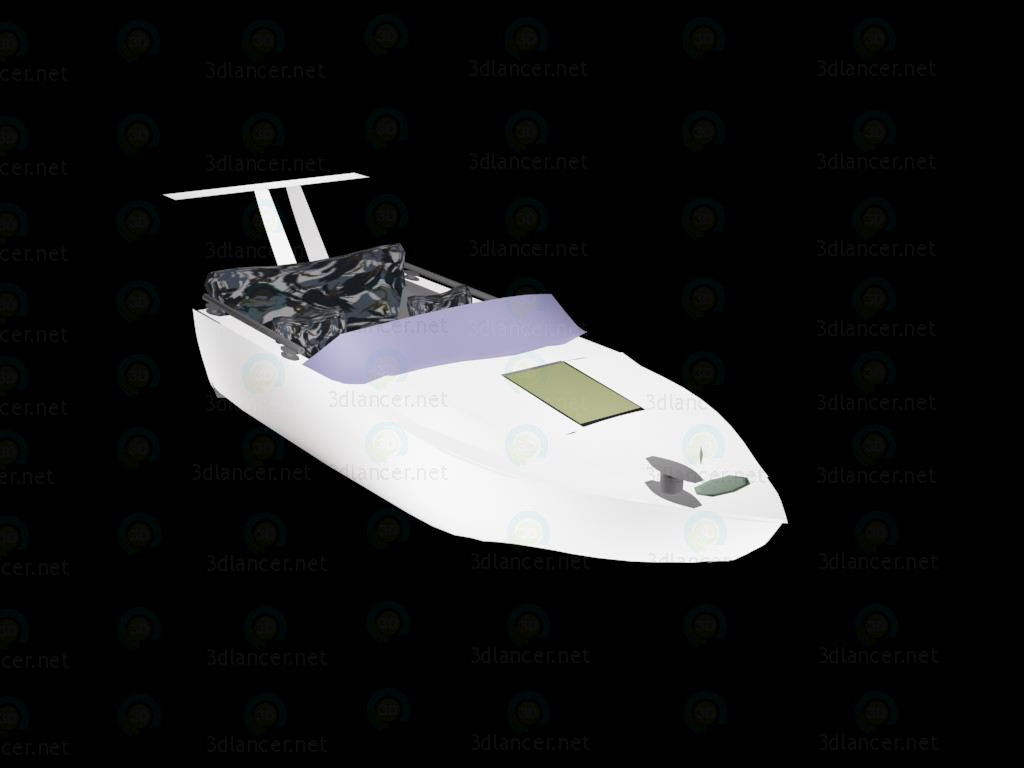 3 डी मॉडल मोटरबोट - पूर्वावलोकन