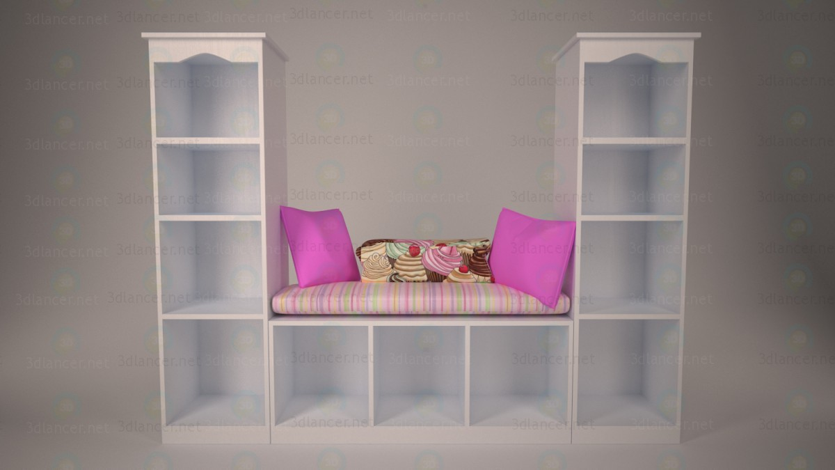 3d Corner for girl model buy - render