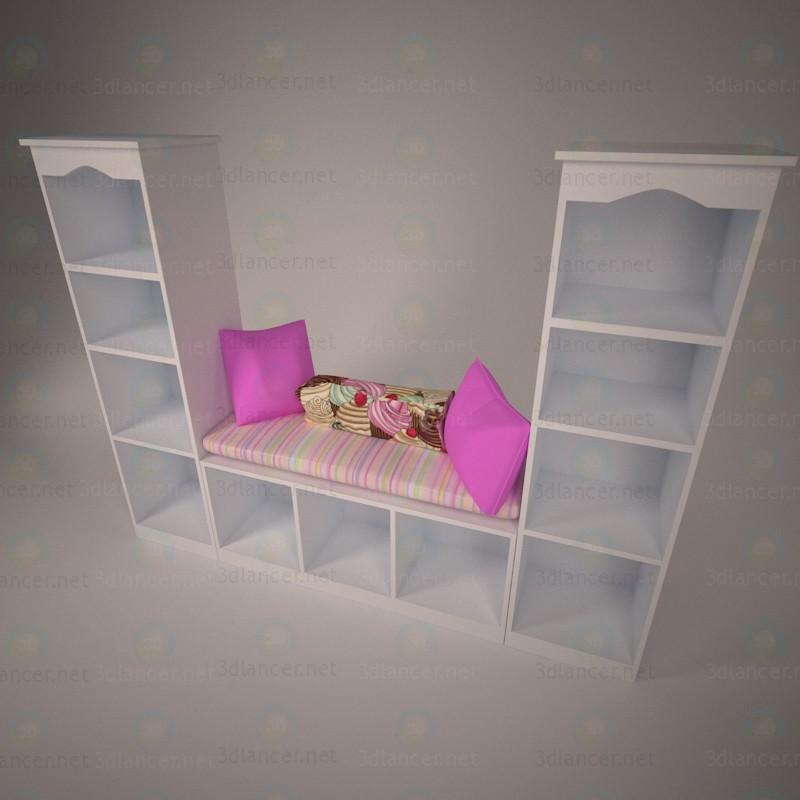 Esquina para chica 3D modelo Compro - render