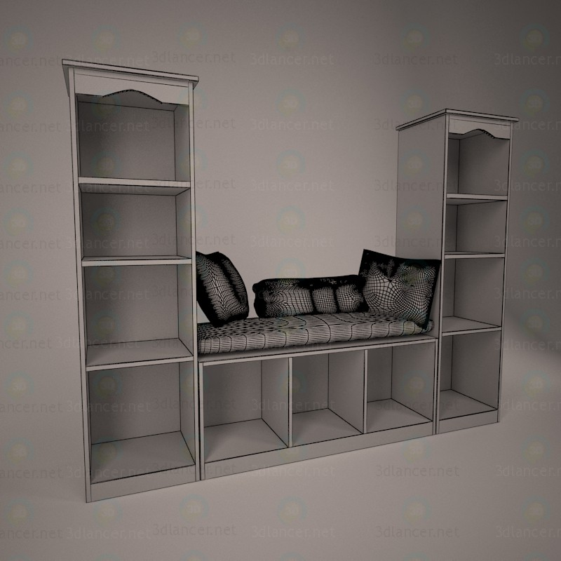 3d Corner for girl model buy - render