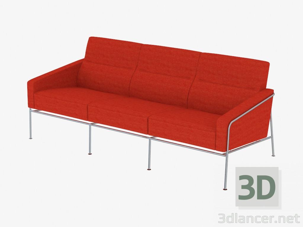 3d model sofa bed double manufacturer fritz hansen id 18905 for Sofa bed 3d model
