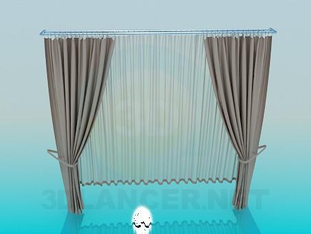 descarga gratuita de 3D modelado modelo Estor con cortinas