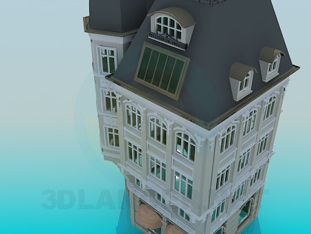 modelo 3D Edificio de la esquina - escuchar