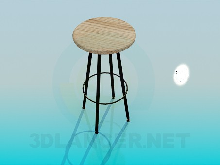 3d model High stool - preview