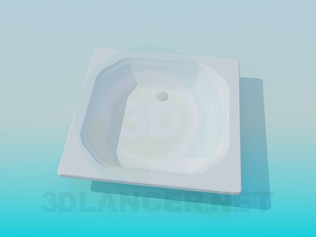 3d model Bottom in the shower - preview