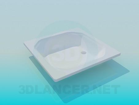 3d модель Дно в душ – превью