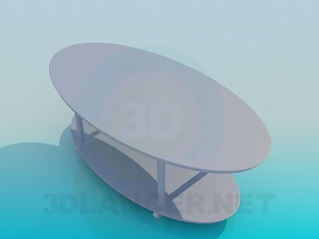 3d моделирование Овальный журнальный стол модель скачать бесплатно