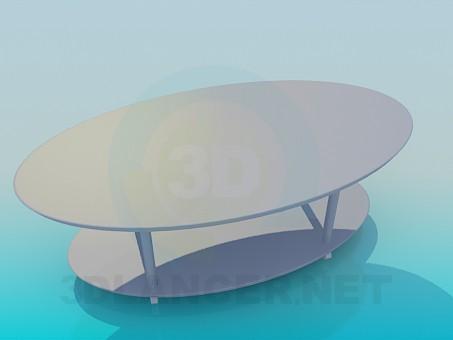 3d модель Овальный журнальный стол – превью