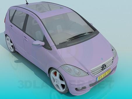 modelo 3D Mercedes Clase A - escuchar