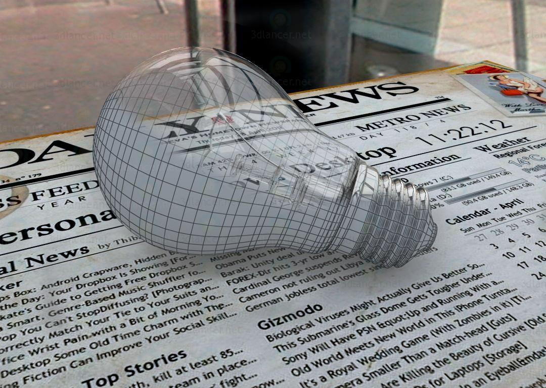 3d модель Лампа розжарювання – превью