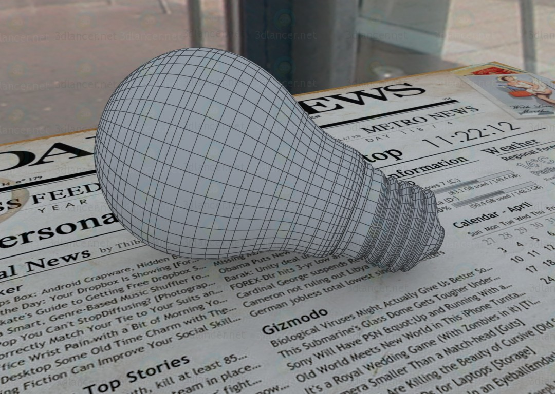3d model Lamp lights - preview