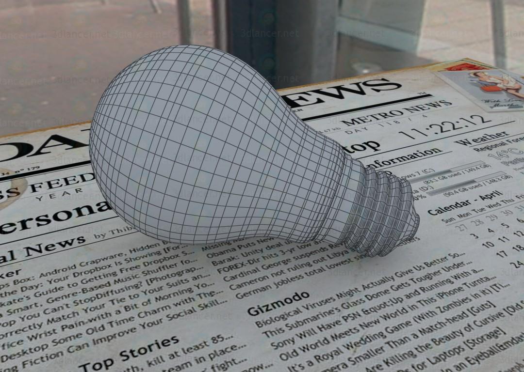 modelo 3D Luces de lámpara - escuchar
