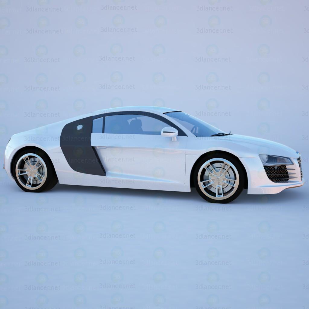 Audi R8 pagado modelo 3d por escuchar temporalex