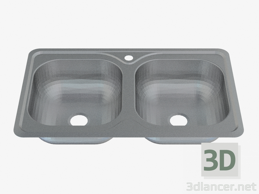 Lavello Cucina 2 Vasche Senza Gocciolatoio.Download Gratuito Di Modello 3d Lavello 2 Vasche Senza