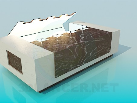 3d modeling Table with light model free download
