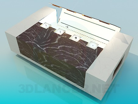 3d model Table with light - preview