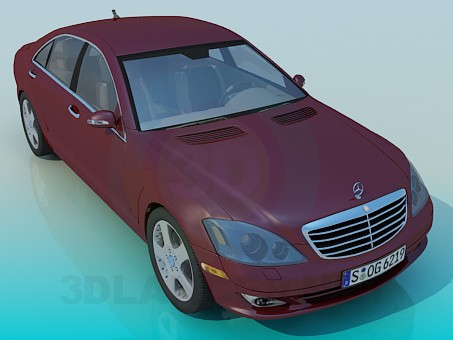 3d modeling Mercedes S-Class model free download