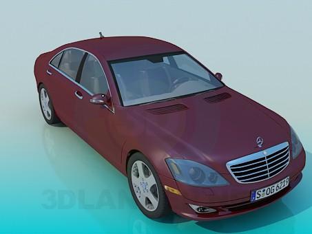 modelo 3D Mercedes S-Class - escuchar