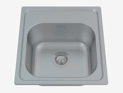 Fregadero, 1 recipiente sin drenaje - Mercato satin (ZHM 0100)