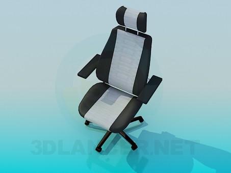 3d модель Стілець-крісло на коліщатках – превью