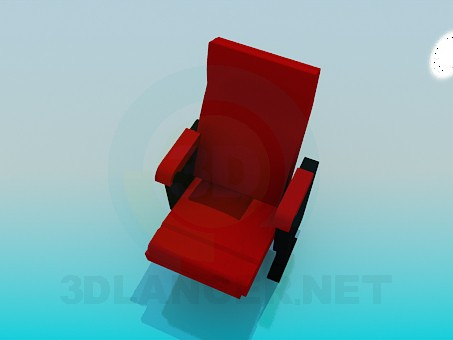 3d model Two legged armchair - preview