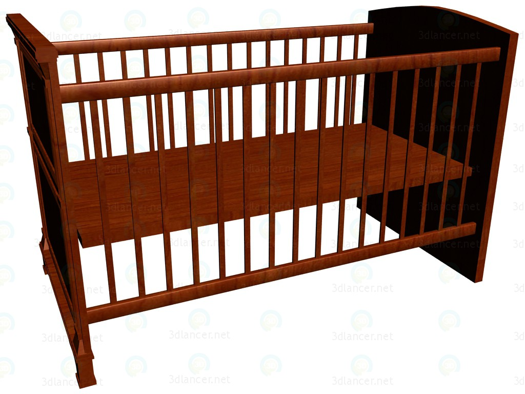 3d model Cot baby 140 x 70 - preview
