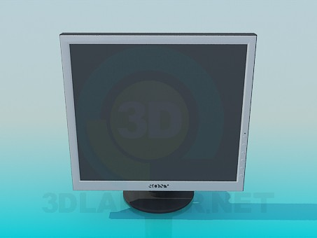 3d modeling Sony monitor model free download