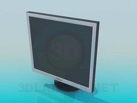 modelo 3D Monitor Sony - escuchar