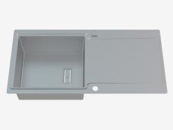 Fregadero, 1 recipiente con un ala para secar - Satin Prospero (ZDP 0113)