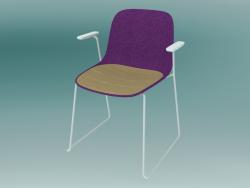 Chaise avec accoudoirs SEELA (S314 avec rembourrage et semelle en bois)