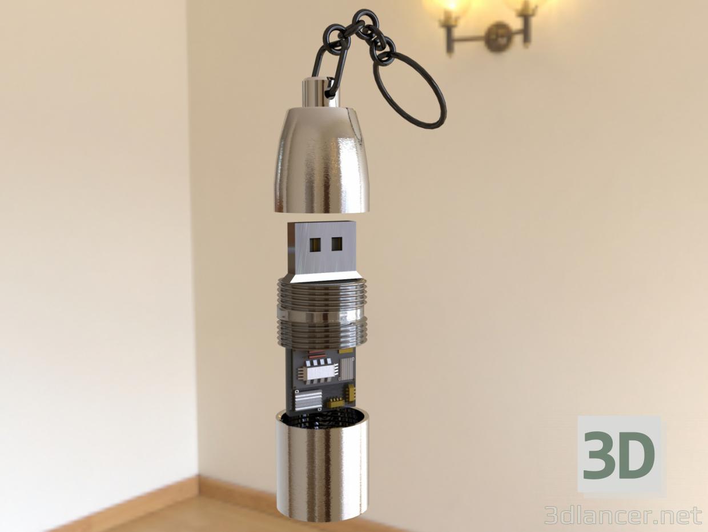3d model USB flash memory - preview