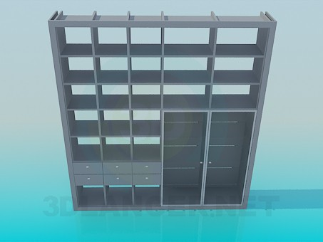 3d моделирование Книжный шкафчик модель скачать бесплатно