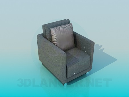 3d modeling Armchair with tinsel model free download