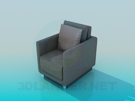 3d model Armchair with tinsel - preview