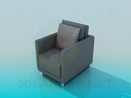3d модель Крісло з блискітками – превью