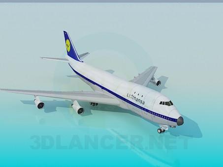 3d модель Boing-747 – превью