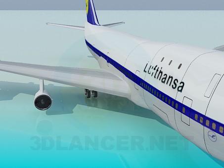 modelo 3D Boing 747 - escuchar