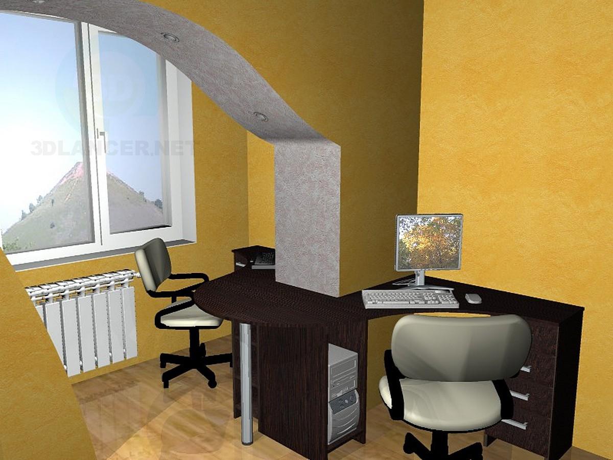 descarga gratuita de 3D modelado modelo Mesa de dos colegialas