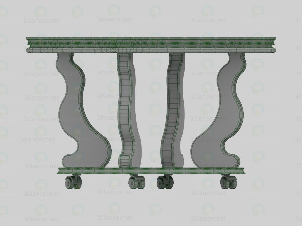 3d Стол журнальный, Берже-4 модель купить - ракурс