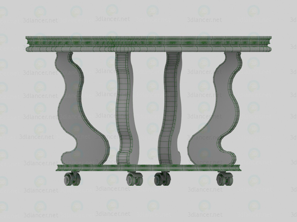 Mesa de centro, Berge-4 3D modelo Compro - render