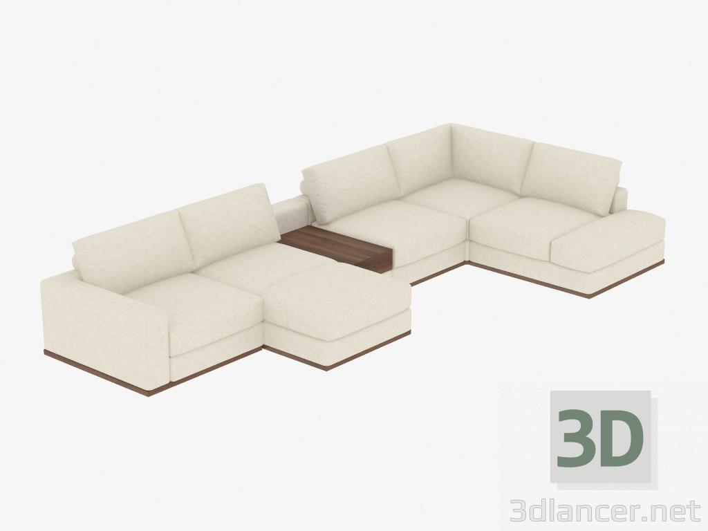 3d modella divano componibile con angolo notte dal produttore