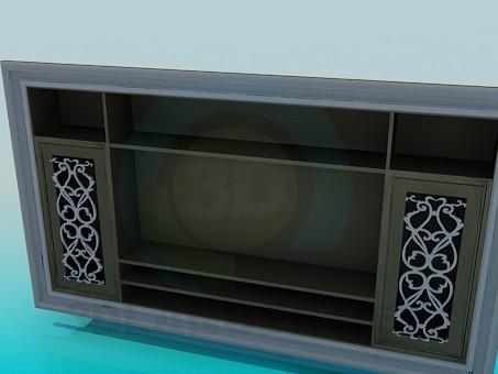 modelo 3D Regimiento en TV - escuchar