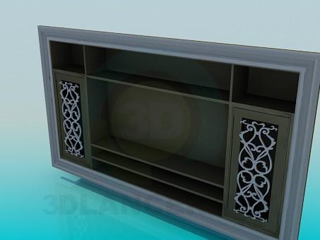 3d модель Полка под телевизор – превью