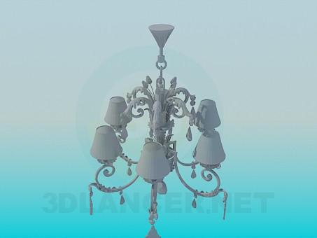 3d моделирование Люстра с красивым орнаментом модель скачать бесплатно