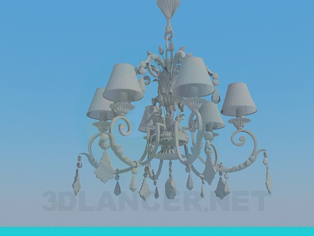 3d model Chandelier with a beautiful ornament - preview